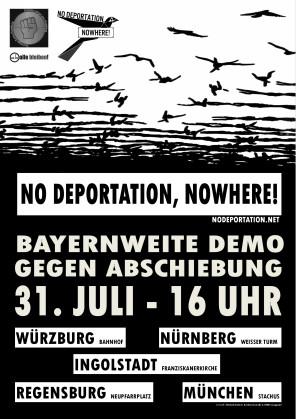 Bayernweite Demo gegen Abschiebung